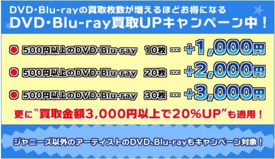 ジャニプリDVD_Blu-ray買取UPキャンペーン